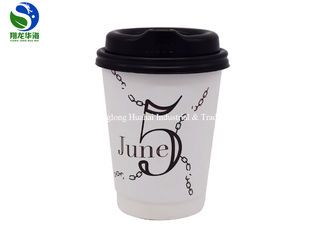 Heat Resistant Double Walled Disposable Coffee Cups Hot Beverage Use