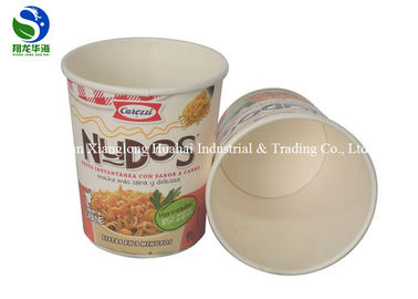 Food grade disposable take away round 12oz kraft paper soup bowl with paper lid